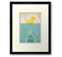 Jaws Rubber Duck Framed Print