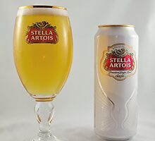Stella Artois - Full glass by Josef Pittner