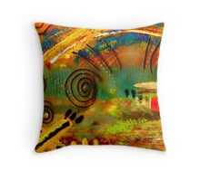 The Journey Back Home Throw Pillow