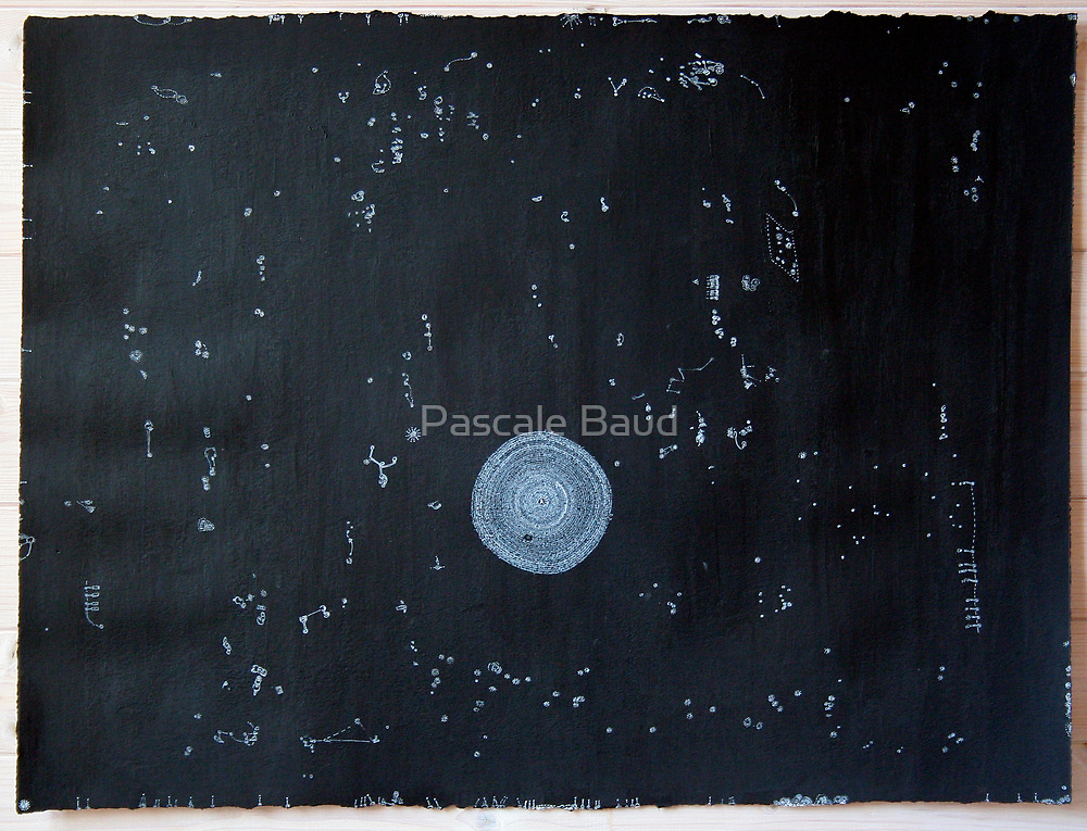 Idéés Blanches - White Ideas #6 - Mental Constellations #1 by Pascale Baud