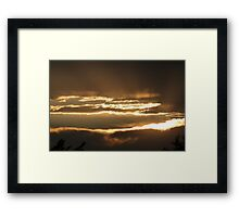 Because of Fires Framed Print