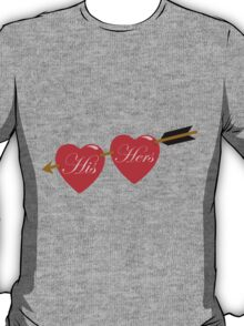 his and her hearts T-Shirt