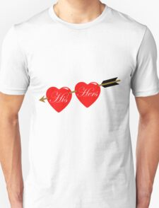 his and her hearts Unisex T-Shirt