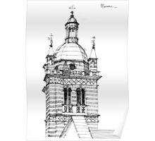 Campanile della cattedrale di Genova Poster