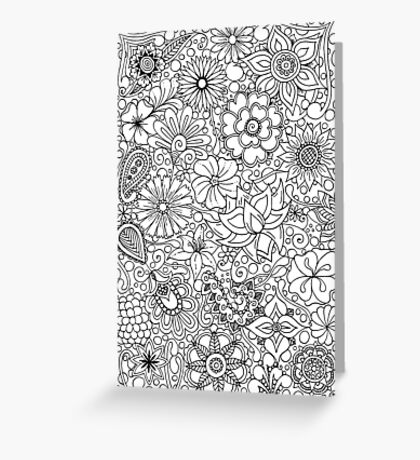 "Flower ""Full"" Greeting Card"