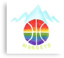 NUGGETS hand-drawing Canvas Print