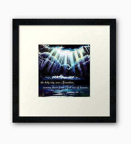 New Jerusalem : the bride Framed Print
