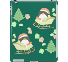 Penguin in Sleigh #5 iPad Case/Skin