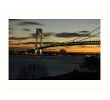 Verrazano Bridge at Dawn Art Print