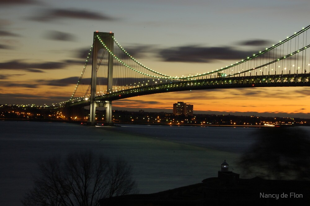 Verrazano Bridge at Dawn by Nancy de Flon