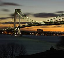 Verrazano Bridge at Dawn by Nancy de Flon