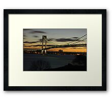 Verrazano Bridge at Dawn Framed Print