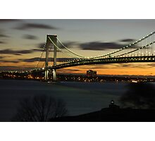Verrazano Bridge at Dawn Photographic Print