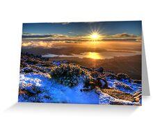 Sunrise over Hobart Greeting Card