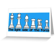 The Light Side Of The Force Greeting Card