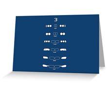 3 Heritage (E21, E30, E36, E46, E90, F30) Greeting Card