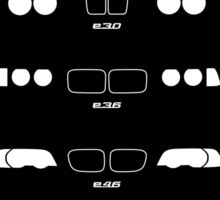 3 Heritage (E21, E30, E36, E46, E90, F30) Sticker
