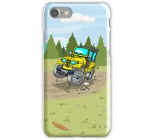 Yellow CJ5 jeep at the woods iPhone Case/Skin
