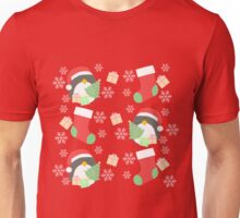 Penguin and Christmas Stockings #1 Unisex T-Shirt