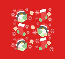 Penguin and Christmas Stockings #1 Unisex T-Shirt