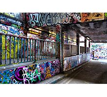 Leake Street Graffiti Tunnel London Photographic Print