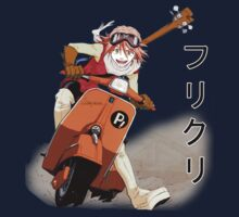 FLCL- Haruko on Moped by r-fLowers