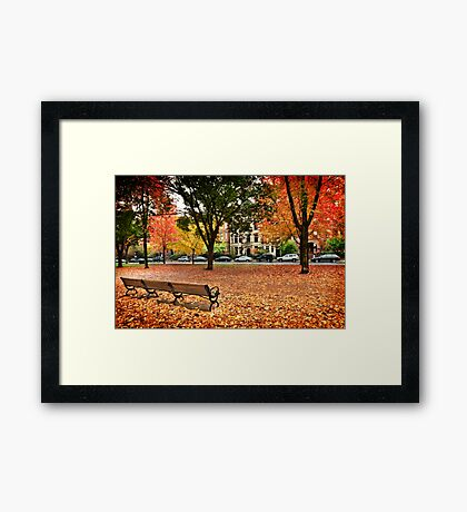 Color before the storm Framed Print