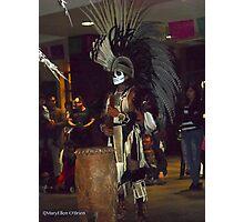 Yaocuauhtil Aztec Drummer Photographic Print