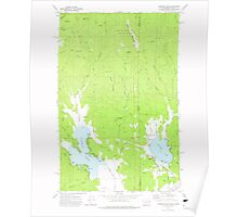 USGS Topo Map Washington State WA Newman Lake 242807 1973 24000 Poster