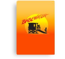 Babewatch (Baywatch) Canvas Print