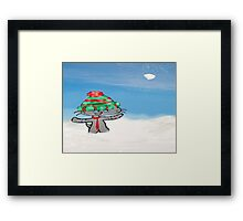 Cats Have A Snowball Fight Framed Print