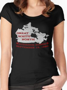 Great White North - Were you there? Women's Fitted Scoop T-Shirt