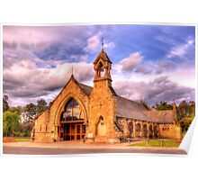 All Saints Anglican Church Canberra WAS railway Station Poster