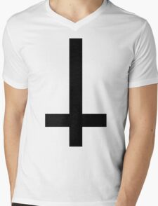Anti Cross Mens V-Neck T-Shirt