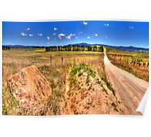 A Road Less Travelled - Goulburn NSW Australia - The HDR Experience Poster