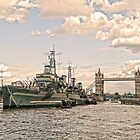 HMS Belfast - London by DavidWHughes