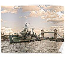 HMS Belfast - London Poster