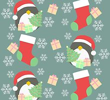 Penguin and Christmas Stockings #4 by simplepaperplan