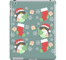 Penguin and Christmas Stockings #4 iPad Case/Skin