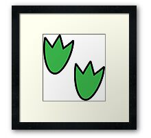 Dino footprint Framed Print