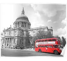 Red Routemaster at St Pauls Poster