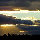 Cloudy sunset over New York City by Alberto  DeJesus