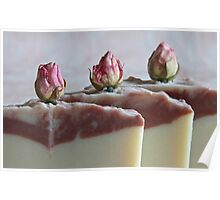 Rosebud Coconut Milk Soap Poster