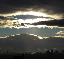 Sunset clouds, New York City by Alberto  DeJesus
