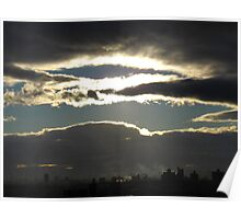 Sunset clouds, New York City Poster