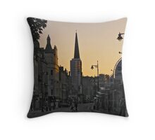 Evening glow in Dundee. Throw Pillow