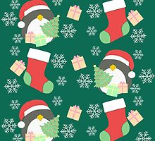 Penguin and Christmas Stockings #5 by simplepaperplan