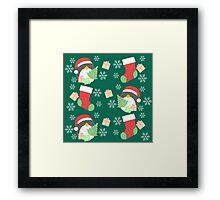 Penguin and Christmas Stockings #5 Framed Print