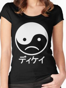 Yin Yang Face II Women's Fitted Scoop T-Shirt