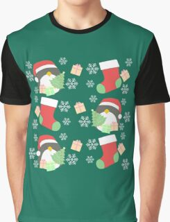 Penguin and Christmas Stockings #1 Graphic T-Shirt